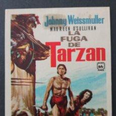 Folhetos de mão de filmes antigos de cinema: LA FUGA DE TARZAN, JOHNNY WEISSMULLER. Lote 287982313