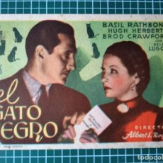 Cine: EL GATO NEGRO. CINE BARRUECO 1945. Lote 287986623