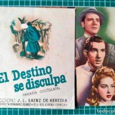 Cine: EL DESTINO SE DISCULPA. J.L. SÁENZ DE HEREDIA.TEATRO PRINCIPAL ZAMORA 1945. Lote 287987368