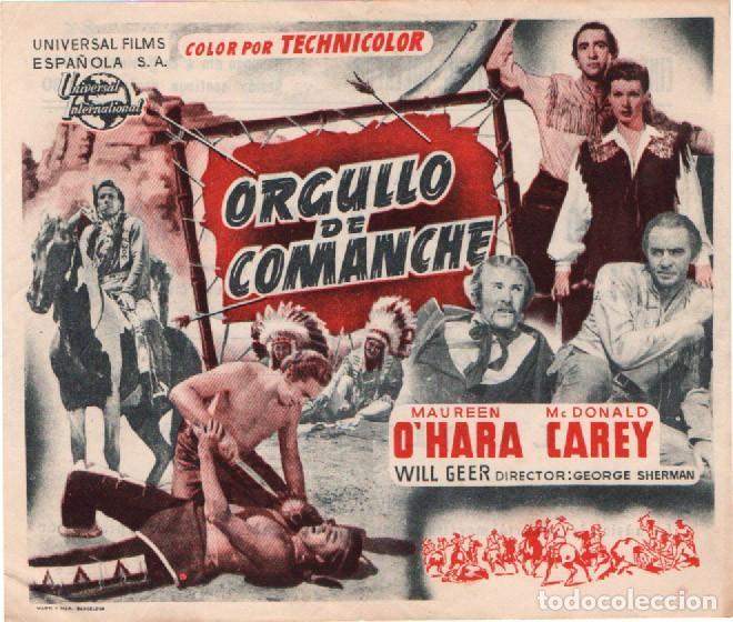 ORGULLO DE COMANCHE, PROGRAMA CON PUBLICIDAD AL DORSO DE CINE NUEVO, SAN HIPOLITO DE VOLTREGA (Cine - Folletos de Mano - Westerns)
