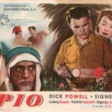 Cine: OPIO, CON DICK POWELL. Lote 287999898