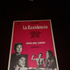 Cine: PROGRAMA DE MANO ORIG- LA RESIDENCIA - SIN CINE IMPRESO AL DORSO. Lote 288040283