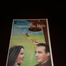 Cine: PROGRAMA DE MANO ORIG- LAS CAMPANAS DE SANTA MARÍA - CON CINE DE SANLÚCAR IMPRESO AL DORSO. Lote 288041508