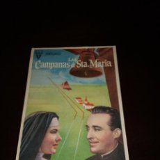 Cine: PROGRAMA DE MANO ORIG- LAS CAMPANAS DE SANTA MARÍA - CON CINE SAN VICENTE IMPRESO AL DORSO. Lote 288041618
