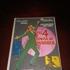 Cine: PROGRAMA DE MANO ORIG- LAS 4 BODAS DE MARISOL- SIN CINE IMPRESO AL DORSO. Lote 288041808