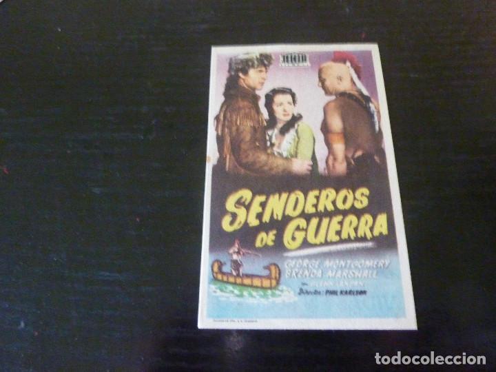 PROGRAMA DE CINE IMPRESO EN LA PARTE TRASERA (Cine - Folletos de Mano - Westerns)
