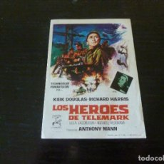Folhetos de mão de filmes antigos de cinema: PROGRAMA DE CINE IMPRESO EN LA PARTE TRASERA. Lote 288068408
