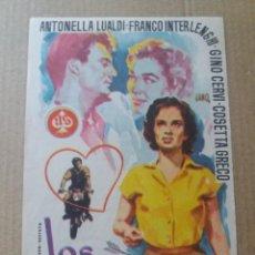 Cine: LOS ENAMORADOS CON PUBLICIDAD DUQUE Y JARDIN MÁLAGA. Lote 288075108