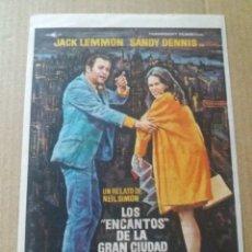 Cine: LOS ENCANTOS DE LA GRAN CIUDAD CON PUBLICIDAD EL MADRIGAL GRANADA. Lote 288079648
