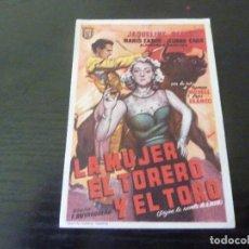 Folhetos de mão de filmes antigos de cinema: PROGRAMA DE CINE IMPRESO EN LA PARTE TRASERA. Lote 288144403