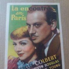 Cine: LA ENCONTRÉ EN PARIS CON PUBLICIDAD CINES NOVEDADES Y VILLADECANS. Lote 288146733