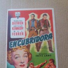 Cine: ENCUBRIDORA CON SELLO TEATRO PRADERA. Lote 288149963
