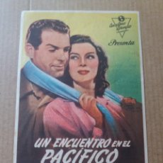 Cine: UN ENCUENTRO EN EL PACÍFICO CON PUBLICIDAD MARIA CRISTINA GIJÓN. Lote 288151068