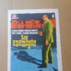 Cine: LOS ENEMIGOS CON PUBLICIDAD CINE DORADO ZARAGOZA. Lote 288159083