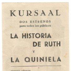 Cine: SENCILLO LA HISTORIA DE RUTH CINE KURSAAL DE REUS GAMBUS. Lote 288172898