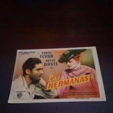 Cine: PROGRAMA DE MANO ORIG- LAS HERMANAS - CON CINE SUREDA IMPRESO AL DORSO. Lote 288201793