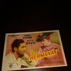 Cine: PROGRAMA DE MANO ORIG- LAS HERMANAS - CON CINE ECHEGARAY IMPRESO AL DORSO. Lote 288201943