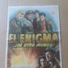 Cine: EL ENIGMA DE OTRO MUNDO CON PUBLICIDAD CINE ROXY VALLADOLID. Lote 288205763