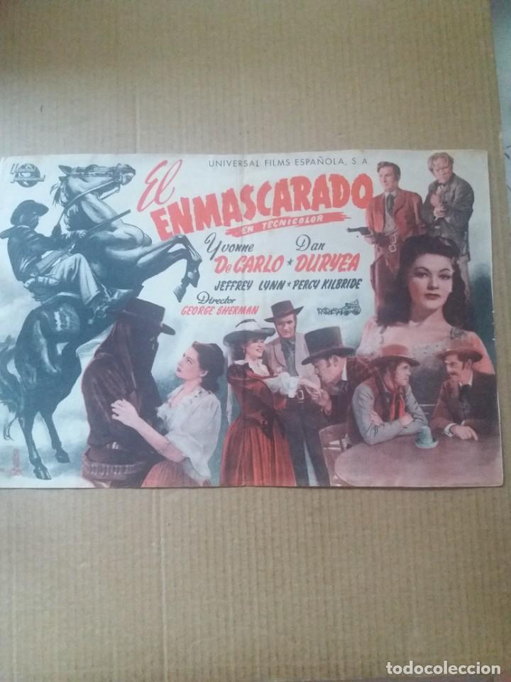 EL ENMASCARADO (Cine - Folletos de Mano - Westerns)