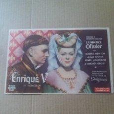 Cine: ENRIQUE V CON SELLO CINE AVENIDA UBRIQUE. Lote 288210073