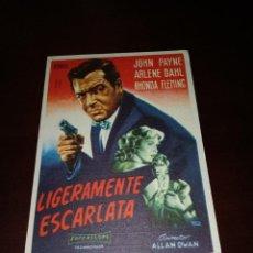 Cine: PROGRAMA DE MANO ORIG - LIGERAMENTE ESCARLATA- CON CINE DE ZARAGOZA IMPRESO AL DORSO. Lote 288292543