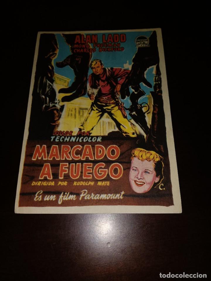 PROGRAMA DE MANO ORIG - MARCADO A FUEGO- CON CINE DE CASTELLÓN IMPRESO AL DORSO (Cine - Folletos de Mano - Westerns)