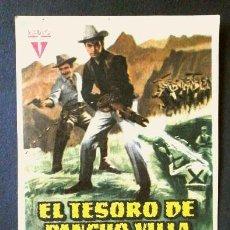 Cine: EL TESORO DE PANCHO VILLA (FILM USA 1955) FOLLETO DE MANO CINE LAS ARENAS (BARCELONA) CINES SANTS. Lote 288390068