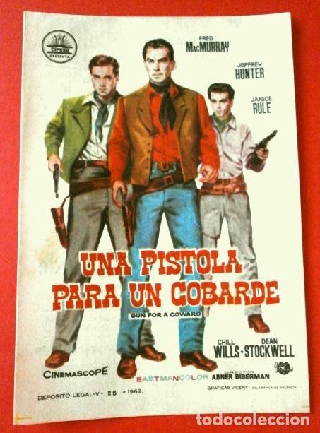 UNA PISTOLA PARA UN COBARDE (FILM USA 1957) FOLLETO DE MANO CINE BOHEMIO GALILEO (BARCELONA) SANTS (Cine - Folletos de Mano - Westerns)