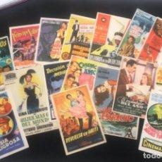 Cine: LOTE DE 16 PROGRAMAS DE CINE. 1950'S.. Lote 288469733