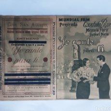 Cine: YO CANTO PARA TI MUNDIAL FILM CONCHITA PIQUER. Lote 288565793