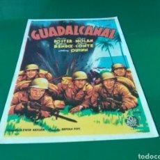 Cine: ANTIGUO PROGRAMA DE CINE GUADALCANAL. CINE COLISEUM Y ARISTOS DE BARCELONA. AÑOS 40. Lote 288929823