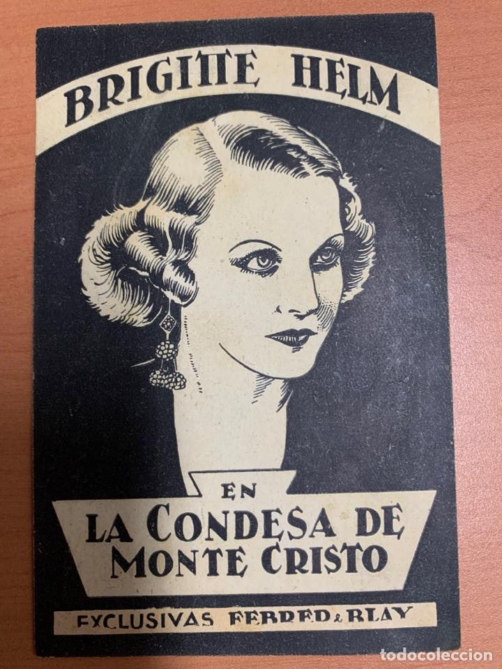 FOLLETO DE CINE ANTIGUO .LA CONDESA DE MONTE CRISTO.1933.TARJETA. (Cine - Folletos de Mano - Drama)