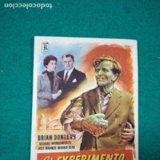 Cine: PROGRAMA DE CINE. EL EXPERIMENTO DEL DR. QUATERMASS. BRYAN DONLEVY. CON PUBLICIDAD.. Lote 288955153