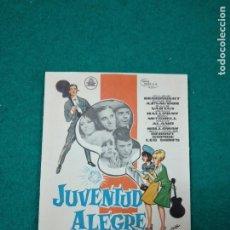 Cine: PROGRAMA DE CINE. JUVENTUD ALEGRE Y LOCA. JOHNNY HALLYDAY - SILVIE VARTAN - CHARLES AZNAVOUR.. Lote 288956198