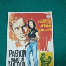 Cine: PROGRAMA DE CINE. PASION BAJO LA NIEBLA. CHARLTON HESTON JENNIFER JONES KARL MALDEN. KING VIDOR. Lote 288957268