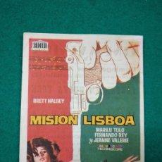 Cine: PROGRAMA DE CINE MISION LISBOA. BRETT HALSEY - MARILU TOLO - FERNANDO REY. CON PUBLICIDAD.. Lote 288975753