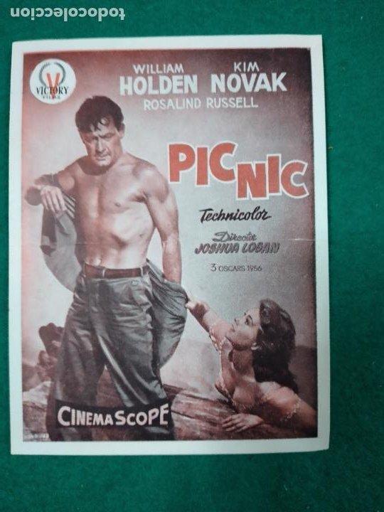 PROGRAMA DE CINE. PICNIC PIC NIC. WILLIAM HOLDEN - KIM NOVAK (Cine - Folletos de Mano - Drama)