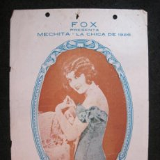 Cine: MECHITA LA CHICA DE 1926-GRAND SPLENDID THEATRE-PROGRAMA DE CINE-VER FOTOS-(K-4178). Lote 289011988