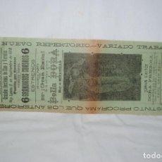 Cine: CINE ESCUDERO , SITUADO EN EL MUELLE . CADIZ , 1910. Lote 289026598