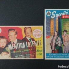 Cine: SALON CINEMA ZALLA, DOS FOLLETOS DE CINE DE ESTA CIUDAD DE VIZCAYA. Lote 289199848