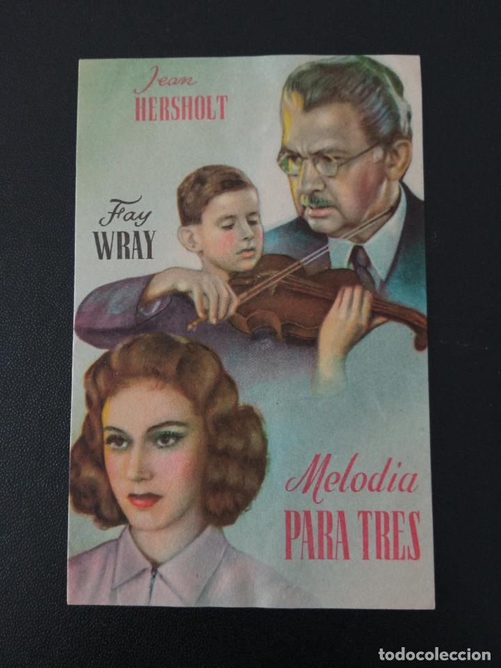 MELODIA PARA TRES, FAY WRAY (Cine - Folletos de Mano - Drama)
