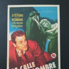 Cine: LA CALLE SIN NOMBRE, RICHARD WIDMARK, ATENEO CULTURAL DE SAN MARTIN DE TOUS, BARCELONA, 1950. Lote 289200453