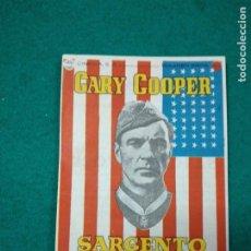 Cine: PROGRAMA DE CINE. SARGENTO YORK. GARY COOPER. CON PUBLICIDAD.. Lote 289204448