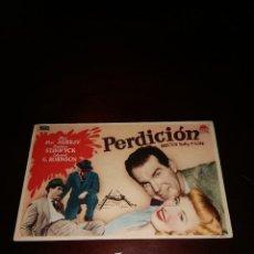 Cine: PROGRAMA DE MANO ORIG - PERDICIÓN - CON CINE GOYA IMPRESO AL DORSO. Lote 289207948