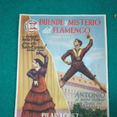 Cine: PROGRAMA DE CINE. DUENDE Y MISTERIO DEL FLAMENCO (ANTONIO EL BAILARIN - PILAR LÓPEZ). Lote 289229968