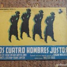 Cine: FOLLETO DE MANO DOBLE DE LA PELICULA LOS CUATRO HOMBRES JUSTOS. Lote 289299083