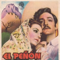 Cine: L PEÑON DE LAS ANIMAS PROGRAMA SENCILLO FLORALVA JORGE NEGRETE TEATRO CIRCO ZARAGOZA. Lote 289313953