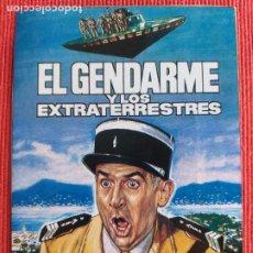 Cine: DOS FOLLETO DE MANO. ANVERSO: EL GENDARME Y LOS EXTRATERRESTRES. REVERSO: MAGNÍFICO BRIBÓN. Lote 289315628