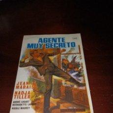 Cine: PROGRAMA DE MANO ORIG - AGENTE MUY SECRETO- SIN CINE IMPRESO AL DORSO. Lote 289370753
