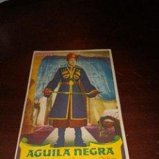 Cine: PROGRAMA DE MANO ORIG - AGUILA NEGRA - CON CINE DE PAMPLONA IMPRESO AL DORSO. Lote 289370918